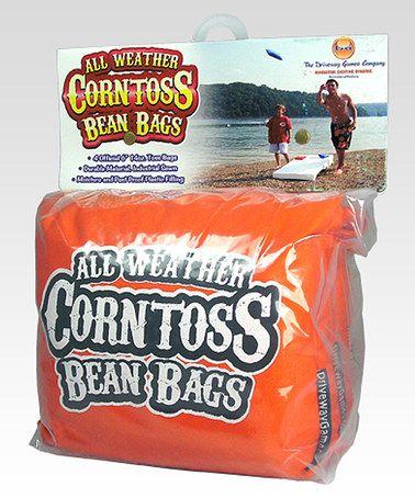Look what I found on #zulily! Orange Bean Bag - Set of Four #zulilyfinds