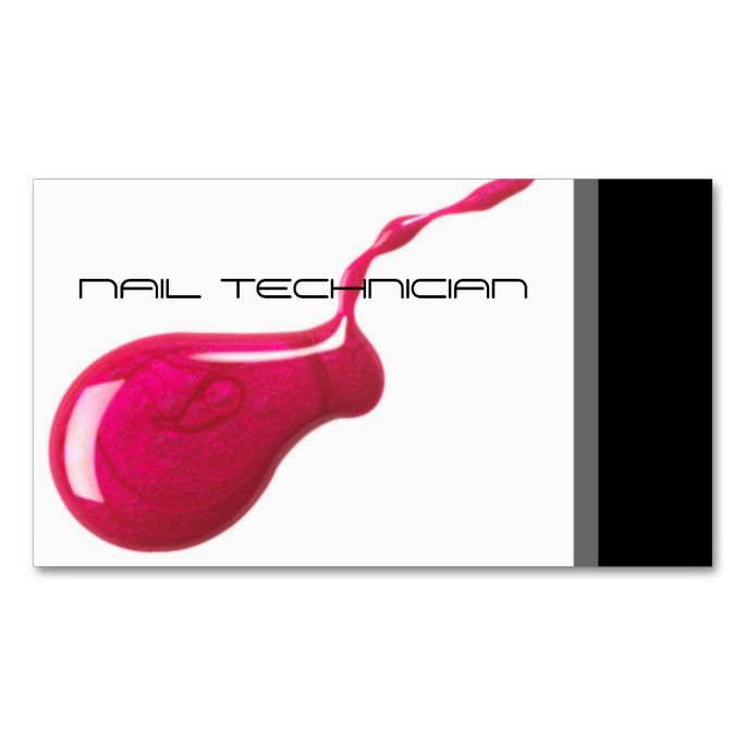 Nail Technician Business Card. This is a fully customizable business card and available on several paper types for your needs. You can upload your own image or use the image as is. Just click this template to get started!