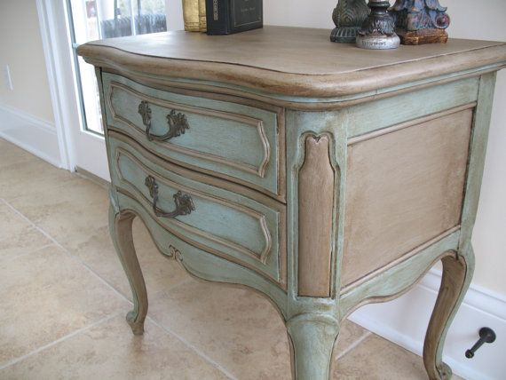 French Provincial Hand Painted & Waxed Lane by CrossRestorations, $135.00
