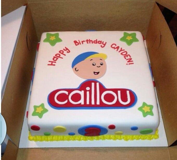 Caillou cake- my princess would love this!