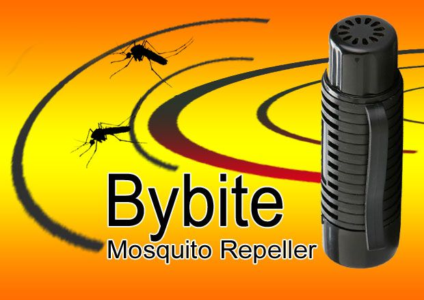 Portable ultrasonic mosquito repellent designed to emit low-frequency sonic waves you can barely hear. It irritates the mosquitoes and drives them away. http://go.bybite.com/offer