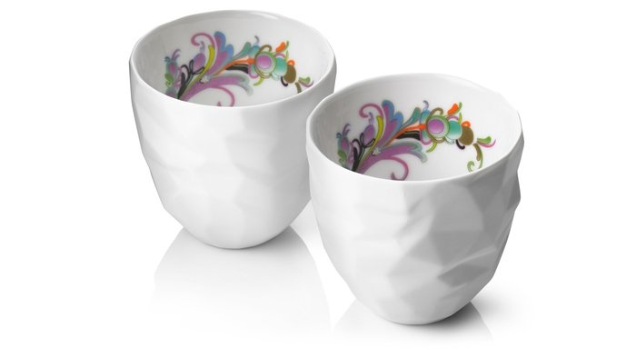 For coffee or tea with my girlfriends...Diamond Cut Porcelain Thermo Cups