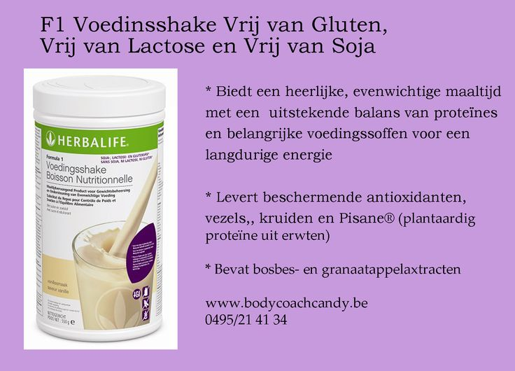 Glutenvrije maaltijdvervangende shake Lactosevrij, sojavrij Bestellen kan via www.bodycoachwebshop.be
