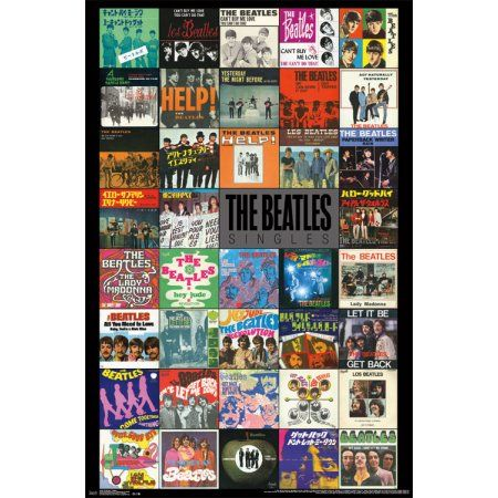 Trends International The Beatles Singles Wall Poster 22.375 inch x 34 inch, Multicolor