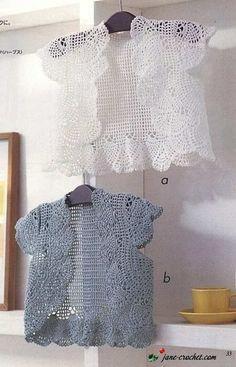 Crochet Top Or Vest - Free Crochet Diagram - (jane-crochet)