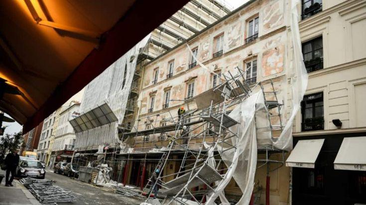 """Dégâts causés par des vents violents dans le 17e arrondissement de Paris, le 3 janvier 2017"""""""