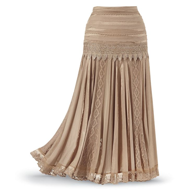 Mixed-Media Skirt - Women's Clothing & Symbolic Jewelry – Sexy, Fantasy, Romantic Fashions $69.95 xs - 3x