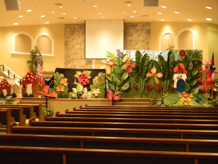 131 best jungle puppet ideas images on pinterest for Auditorium stage decoration