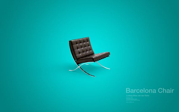 Design Chair Collection (free desktop wallpapers) / David Vineïs