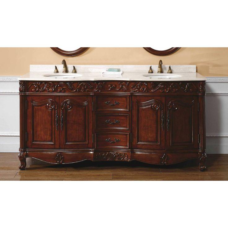 The Art Gallery James Martin Classico Collection Solid Wood Double Bathroom Vanity Dark Cherry
