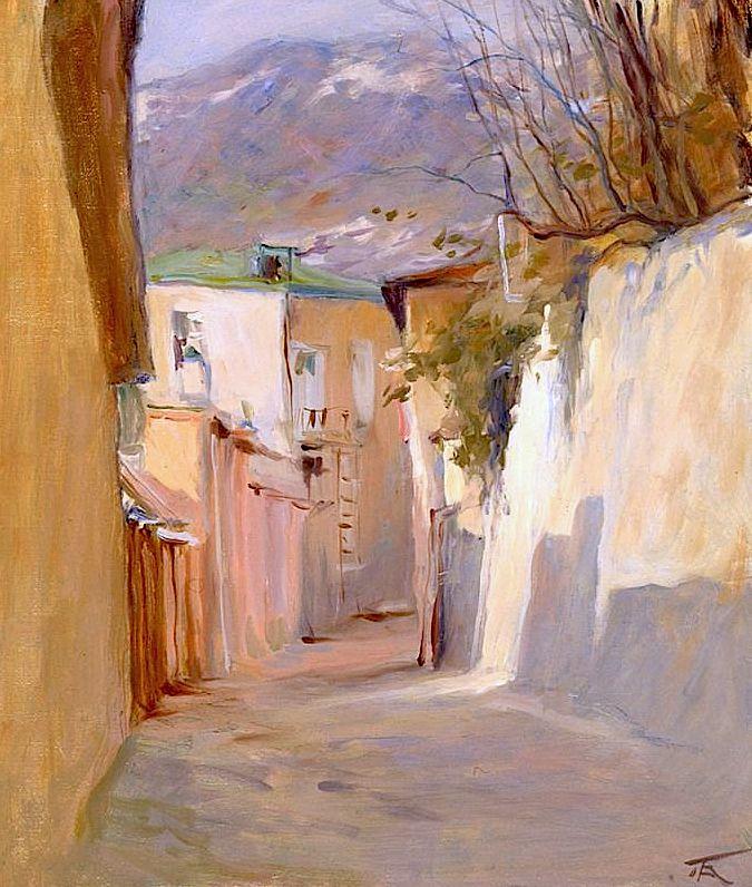 """Outskirts Of Nice"" 1927 by Konstantin Korovin |Russian: Константин Коровин (1861-1939)|"
