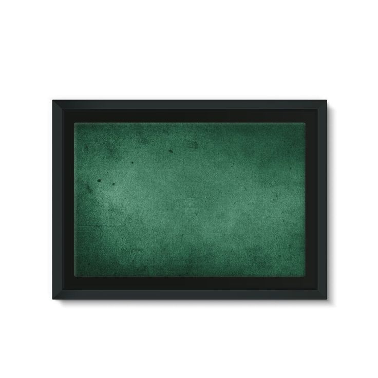 Grunge Former Libyan Flag Framed Eco-Canvas