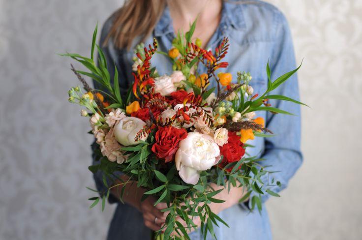 Разноцветный букет невесты / Multicolor bridal bouquet