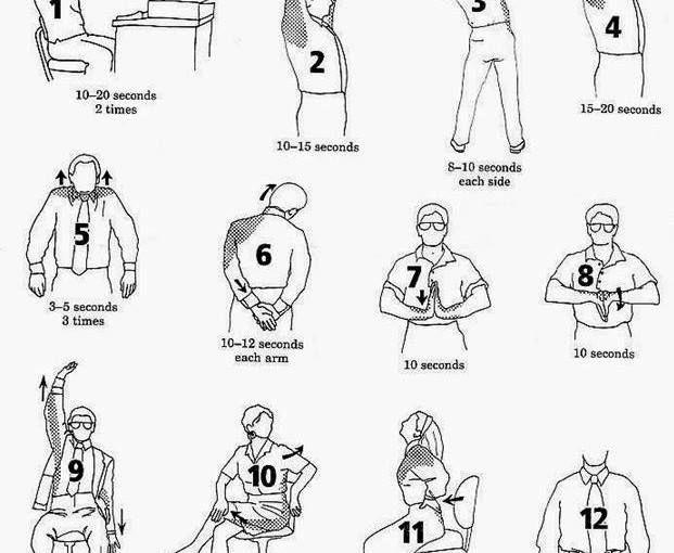 Exercitii pentru dureri de spate care se pot executa la birou.