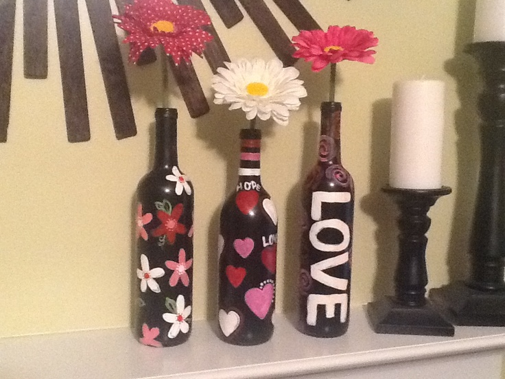 Great use for empty fifths or wine bottles
