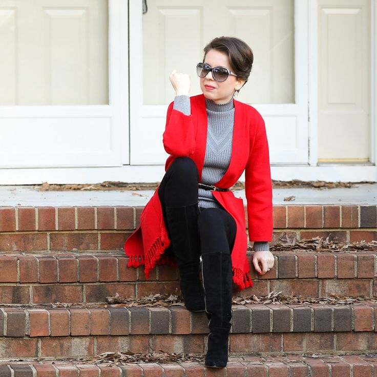 chic layers - dezzal knit top, chicwish tassel cardigan, fabrizio gianni jeans, nine west boots - REDRETICULE 30 plus fashion blog