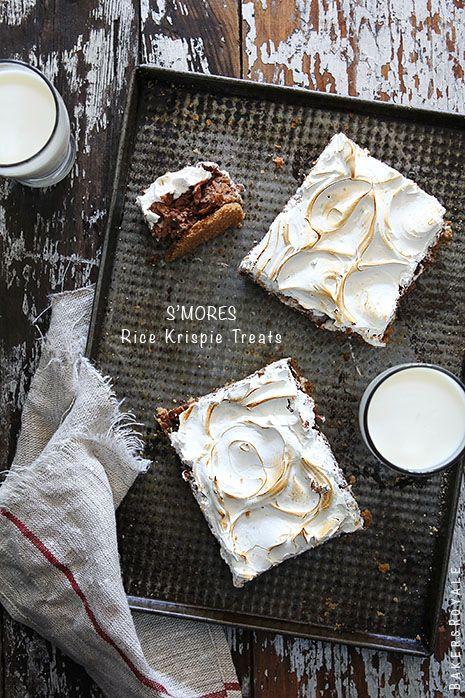 S'mores Rice Krispie Treats by Bakers Royale copy: Health Desserts, Baker Royals, Sweet Treats, Cakes Recipe, Smore Rice Krispie, Smores, S More Rice, Crispy Treats, Rice Krispie Treats