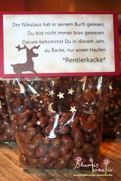Blumis kreativ Blog: Oh backe - Rentierkacke - genial als Mitbringsel/ kleines Weihnachtsgeschenk