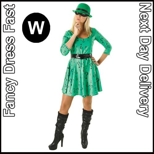 Ladies Adult Licensed Superhero Fancy Dress Costume Halloween Outfit New Mask | eBay