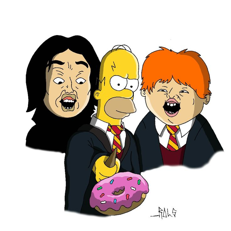 Simpsons Homer Harry Potter RonWeasley Snape Donuts