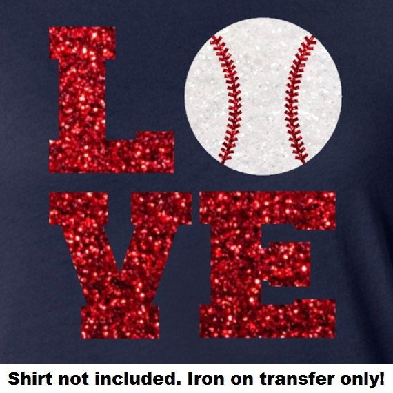 Hey, I found this really awesome Etsy listing at https://www.etsy.com/listing/223390101/glitter-baseball-love-iron-on-baseball