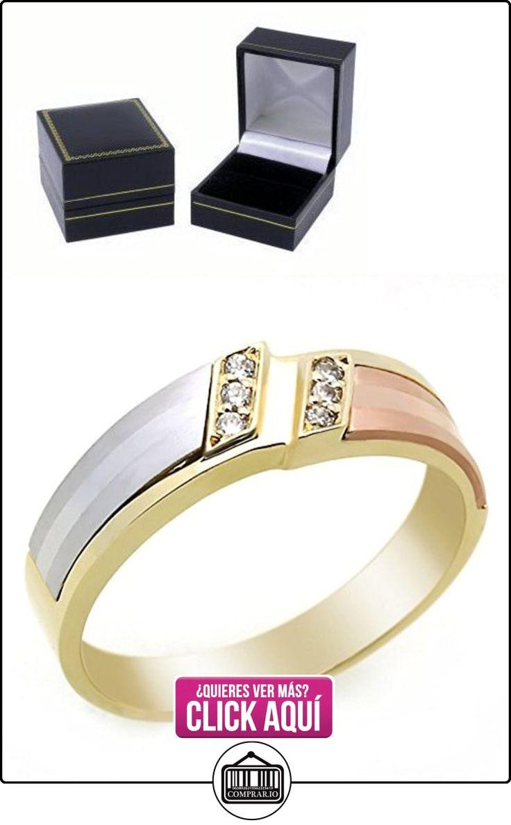 Pequeños Tesoros - Anillo de hombre - Anillo de compromiso y boda de oro 0.2ct Circonita  ✿ Joyas para hombres especiales - lujo ✿ ▬► Ver oferta: https://comprar.io/goto/B00BFX8GSO