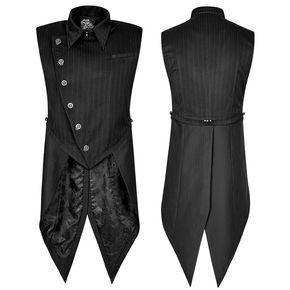 High-closed, asymmetrically buttoned Kingston waistcoat with tails