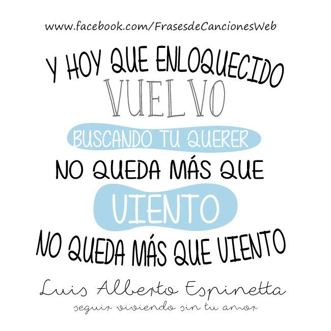 Seguir viviendo sin tu amor- Luis Alberto Espinetta