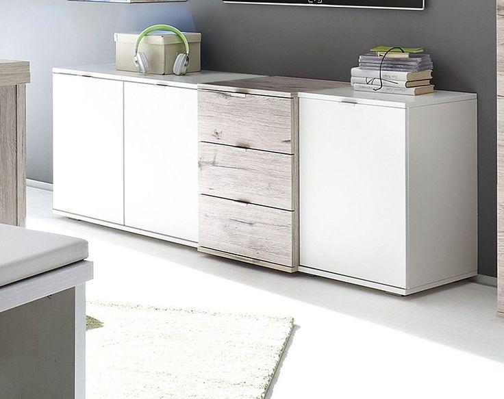 Die besten 25+ Lowboard weiß holz Ideen auf Pinterest Ikea tv - moderne holzdecken wohnzimmer