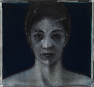 Bradbeer,Godwin Woman Beheld Drawing - chinagraph, silver oxide, pastel on paper Image Size: 109 x 161 James Makin Gallery - Art