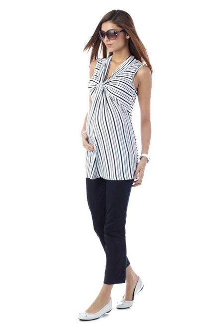 Seraphine Lucy Knot Front Maternity Top | Maternity Clothes  Available at Due Maternity www.duematernity.com