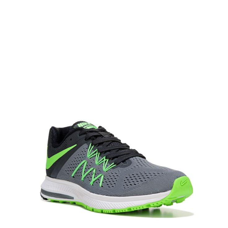 ... mujeres cielo azul oro Nike Men's Nike Zoom Winflo 3 Running Shoes  (Grey/Green/Black) ...