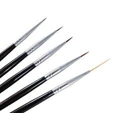Winstonia 5 pcs Professional Nail Art Set Liner + Striping Brushes for Short etc