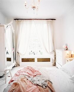 LOVE LIFEDecor, Dreamy Bedroom, Lights, Curtains, Beds, Dreams, Shabby Chic, Interiors Design, White Bedrooms