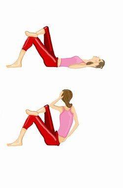 Übung 3: flacher Bauch mit Sit-Ups - flacher Bauch: Übungen