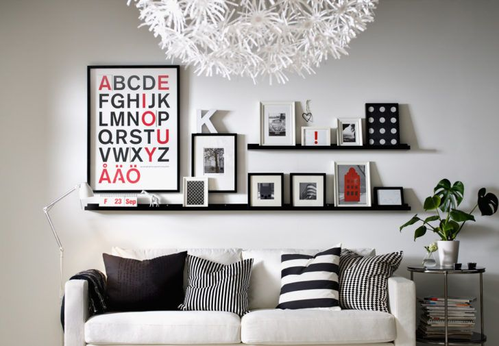 Cómo colocar y distribuir los cuadros en la pared - Casa y Color