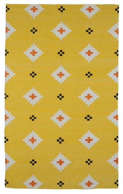 yellow + black: Rugs Company, Black Pattern, Living Rooms Rugs, Black Rugs, Udaipur Yellow, Yellow Rug, Aztec Patterns, Yellow Kitchens Tables, Yellow Black