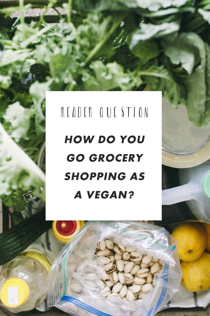 Reader Question: how do you go grocery shopping when you're vegan?