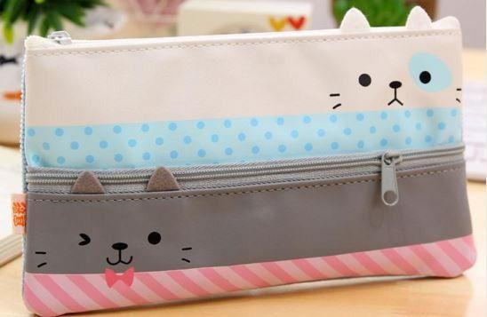 Double Zipper Cat Pencil Case                                                                                                                                                      More