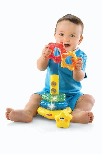 Fisher-Price Brilliant Basics Little Super Star Classical Stacker. Recommended age: 6 months - 2 years. Details at http://www.toys-zone.com/fisher-price-brilliant-basics-little-super-star-classical-stacker/