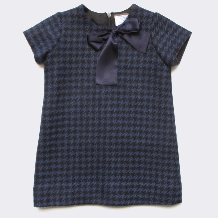 Baby CZ - houndstooth Anna dress, black/navy
