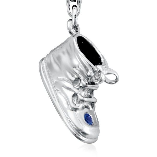 Blue Nile Sapphire Baby Shoe Charm (180 SEK) ❤ liked on Polyvore featuring jewelry, pendants, women, lobster clasp charms, lobster claw clasp charms, blue nile charms, sapphire jewelry and lobster claw charms