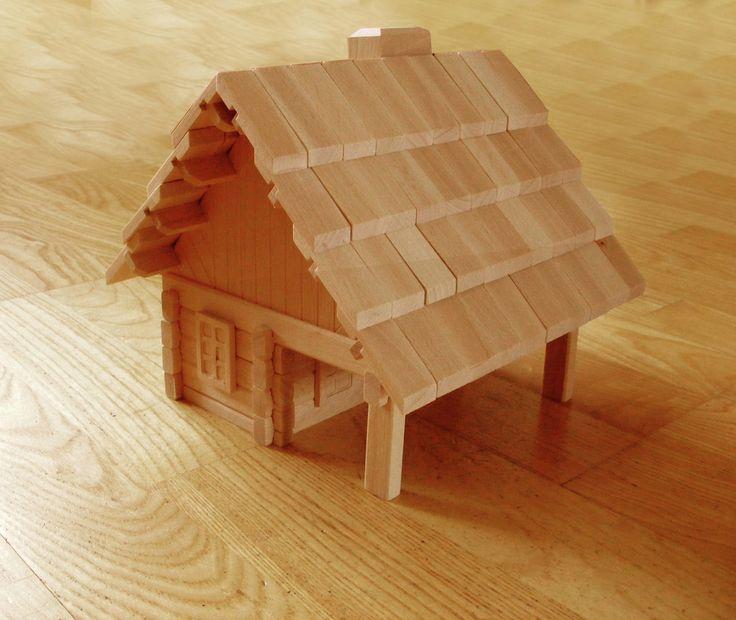 Tidy Books 3D puzzle Baita | Fantastico puzzle 3D in legno http://www.tidy-books.it/cabin-puzzle  #puzzle #regali