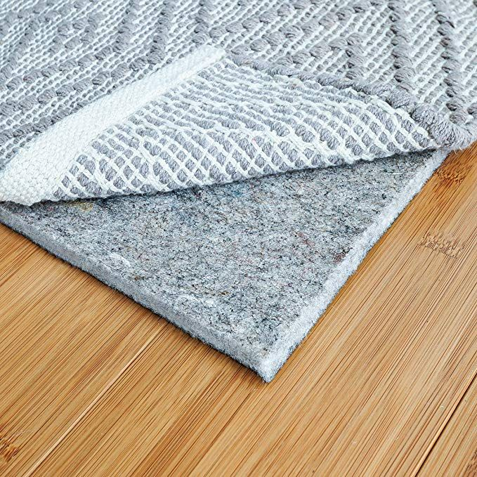 Amazon Com Rugpadusa 4 X6 1 4 Thick Basics Felt Rubber Rug Pad Non Slip Rug Pad Adds Cushion And Floor Protection Rubber Rugs Rug Pad Rugs On Carpet