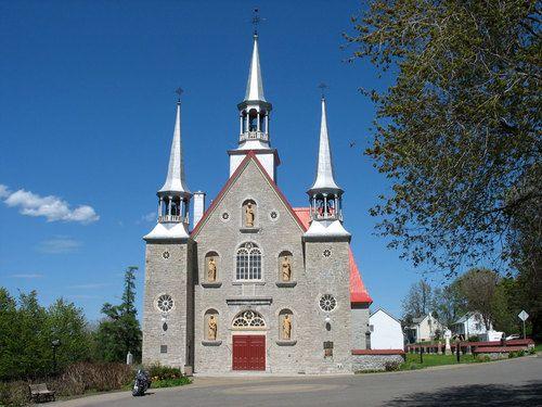 Église de Ste-Famille de l'Île d'Orléans, Québec.