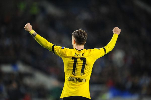 Marco Reus Photos Photos - Marco Reus of Dortmund celebrating after scoring a first goal agains FC Porto during the UEFA Europa League Round of 32 second leg match at Estadio do Dragao on February 25, 2016 in Porto, Portugal. - FC Porto v Borussia Dortmund - UEFA Europa League Round of 32: Second Leg
