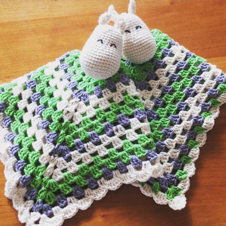 Moomin crochet security blanket