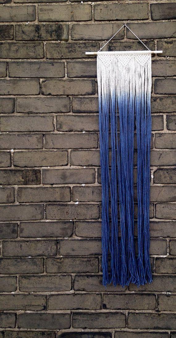 Macrame muur opknoping dompel geverfd ombre in door Rowanstudios