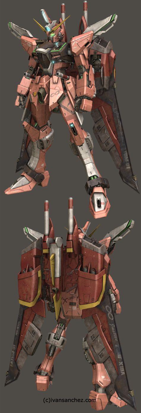 mobile suit gundam seed destiny infinite justice strike freedom MG 3d mesh cg sandrum