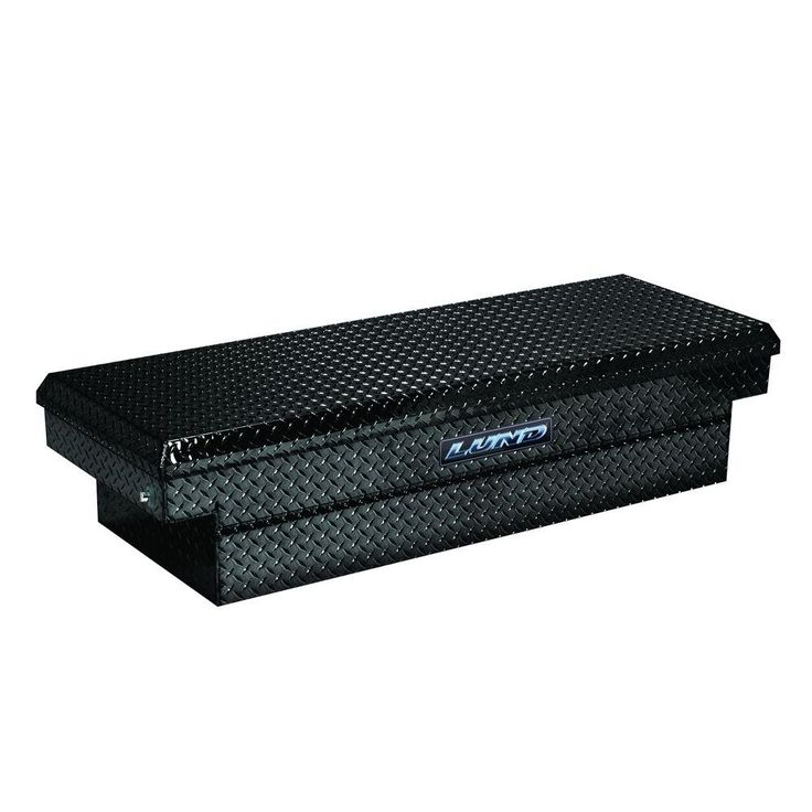 Lund 60 in. Mid Size Aluminum Single Lid Cross Bed Truck Box, Black